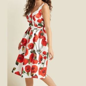 Chi Chi London red roses dress